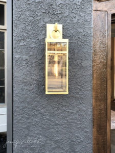 gold outdoor lighting fixture