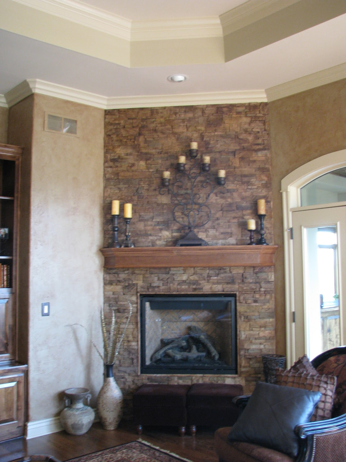 We can paint/stain your brick/stone fireplace